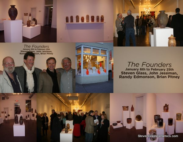 images from The Founders Ceramic Exhibit at Quirk Gallery Richmond featuring ceramics in jar and container format